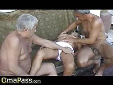 Omapass Older Mature Threesome Video
