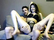 Horny Brunette Teen In Lingerie Wildly Rides Her Boyfriend'