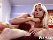Wild Girl Oiling A Big Fat Cock