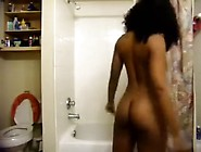 Turned Up Playgirl Of Mine Disrobes In The Shower And Rubs Her T