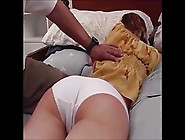 Redhead Get Spanking On The Bed