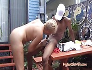 Godly Granny Performin In Interracial Porn Movie In The Open
