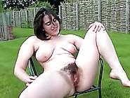 Hairy Chubby Girl Posing