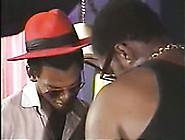 Brunette Whore Shalava Guzzles Two Black Dicks Standing On Her K