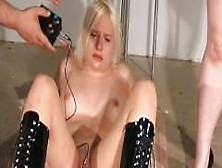 Two Slaves Mutual Electro Torture And Whipping In A Sadistic Gam