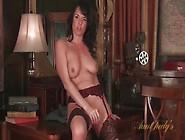 Mom In Perfect Stockings Masturbates Solo