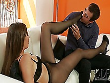 Connie Carter In Black Stockings