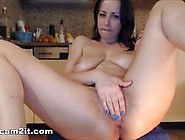 Big Natural Tits Brunette Milf Inserts Huge Dildos In Pussy And