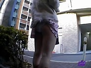 Ooops,  You Have A Skirt Stuck In Your Panties Upskirt Video