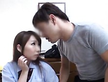 Gracious Oriental Schoolgirl Strips Naked And Gets Fisted