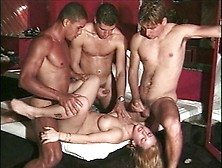 3 Very Turned-On Men Take Turns Drilling And Creaming Ali Parker