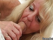 Blonde Old Granny Rides Young Dick
