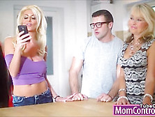 Big Titted Milf Tia Teaches Young Couple Some Anal Sex