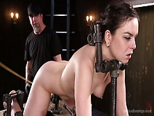 Lecherous Porn Model Juliette March Gets Her Pussy Punished In T