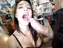 Sensual Deepthroating Combined With Sloppy Blowjob Starring Fran