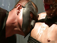 Gay Sex Slave Bound, Punished And Covered In Ketchup