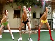 Trio Nude Lesbos Making Aerobic