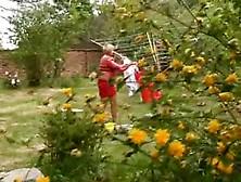 Busty Mature Garden Play