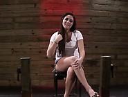 Beautiful Brunette Stella May Gets Tied Up And Treated Like A Wh