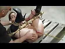 Bound Caned And Toyed In The Ass