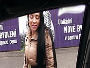 Brunette Sucks A Stranger's Cock In The Car