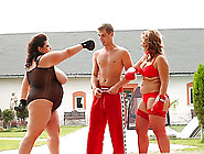Bbws In Boxing Gloves Throw Punches And Fuck The Fit Guy