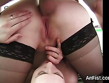 Naughty Lesbo Beauties Are Spreading And Fist Fucking Asshole