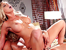 Adorable Samantha Saint Gets Banged In A Cowgirl Position