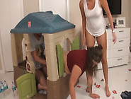 Katie Got Her Fat Ass Stuck In The Play House After Devouring On