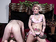 A Tattooed Chick Gets Nailed Hard By A Black Guy In Front Of Her