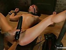 Hot Babe With Blonde Hair,  Riley Reid Spreads Her Legs Wide Open