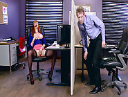 Lauren Phillips Gets Caught By Her Boss,  Masturbating At Work