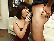 Petite Asian Girlfriend Swallows Hairy Balls And Sucks Hard Cock