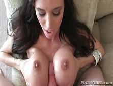 Fucking Her Big Fake Tits Makes Him Cum
