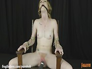 Katy Kiss Gagged,  Chair Tied And Cumming