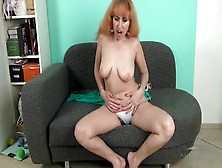 Mature Babe Masturbates Her Hairy Cunt