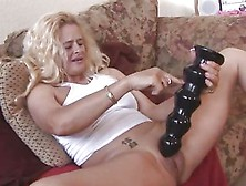 Enormous Dildo Insertion