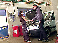 A Sex Girl Pays Her Mechanic With Pussy During Some Car Fucking