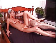 Slut Warms Up With Dildo And Rides Cock