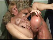 Blonde Granny Warm Up With Huge Dildo