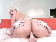 Julie Cash Is A Blonde With A Huge Ass.  She Is Placing It On Top