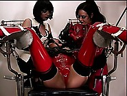 Gorgeous Slaves In Latex Get Punished By Their Sadistic Mistress