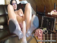 Livecam Footjob With Heels On My Suction Cup Dildo - Kinkyfrench