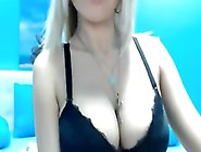 Solo Girl With Big Tits Satisfies Herself With Black Dildo