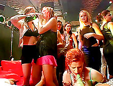 Attractive Gals In A Lovely Scene With Lesbians Having Real Fun.