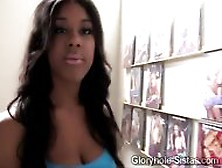 Big Boobed Black Beauty Goes Kinky In This Gloryhole Scene