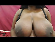 Ashanti: Big Black Bouncing Boobs Webcam Show Compilation