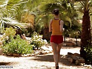 European Chick Has Sex While Jogging
