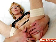 White Haired Wifey Gapes And Shaggs Her Cooter