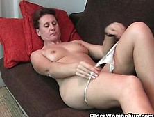 Mature Milf With Hard Nipples And Hairy Pussy Gets Fingered By P